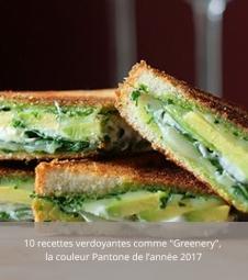 Dernier article - 10 recettes verdoyantes comme « Greenery », la couleur Pantone de l'année 2017
