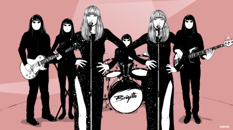 """Capture d'écran du clip musical """"L'échappée Belle"""" par le groupe Brigitte"""