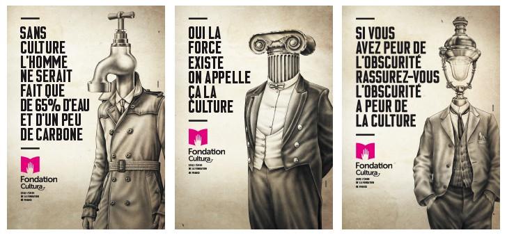 Campagne d'affichage de la Fondation Cultura par l'agence St John's en 2016
