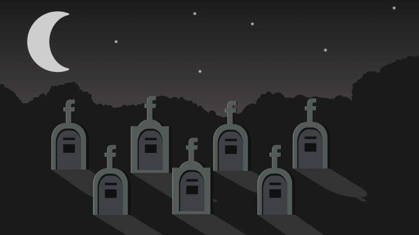Facebook, le plus grand cimetière du monde