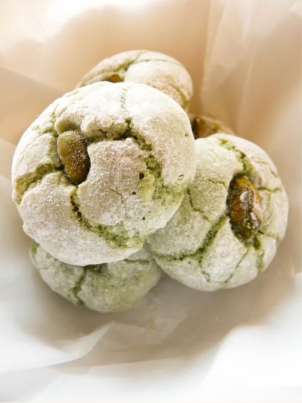 Amaretti mœlleux à la pistache