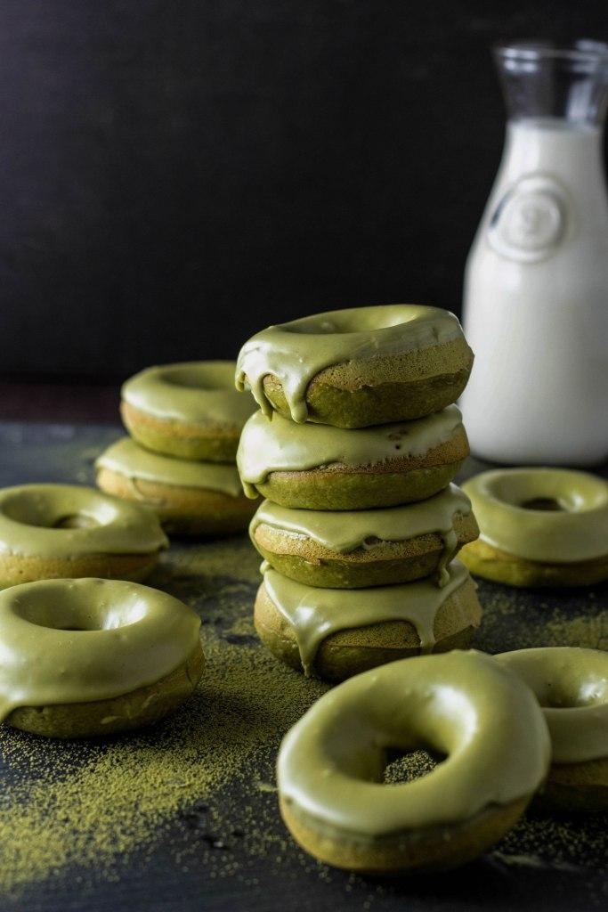 Donuts au thé Matcha