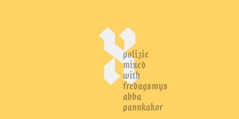 Police d'écriture gratuite (free font) de style écriture allemande par Anton Bolin