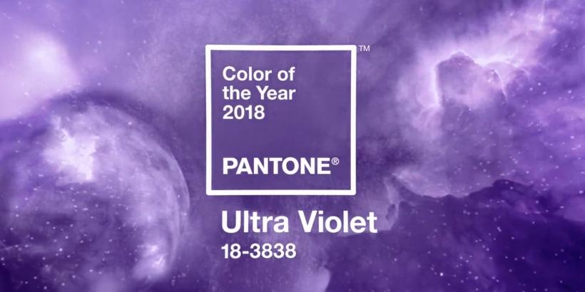 La couleur Pantone de l'année 2018 'Ultra Violet'