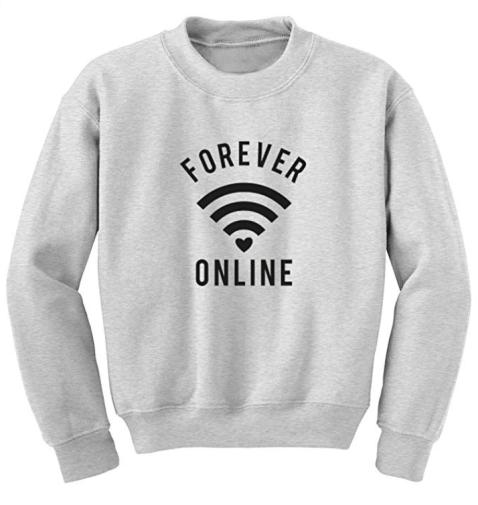 Sweatshirt unisexe forever online gris