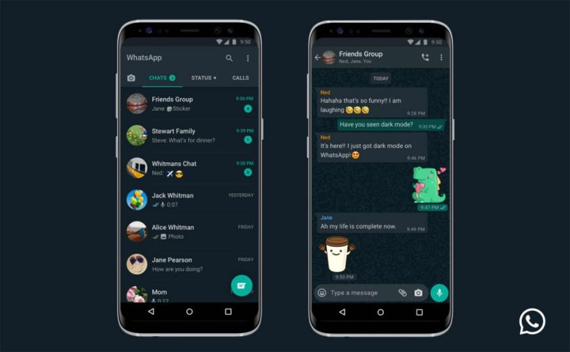 Dark Mode / Mode Sombre sur l'application WhatsApp