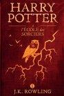 """Couverture du premier tome de la saga Harry Potter, """"Harry Potter à l'école des sorciers"""" écrit par J.K. Rowling (version ebook/kindle)"""
