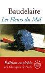"""Couverture du livre """"Les Fleurs du mal""""de Charles Baudelaireparu en 1857 (version ebook / Kindle)"""