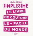 """Couverture du livre """"Simplissime : Le livre de couture le plus facile du monde"""" de S. Colin & S. Mallet paru en 2017 (version ebook / Kindle)"""