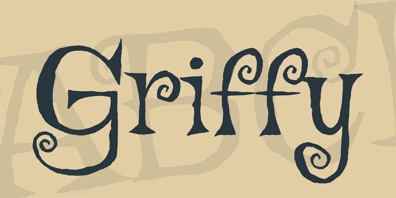 Typographie gratuite Griffy pour Halloween