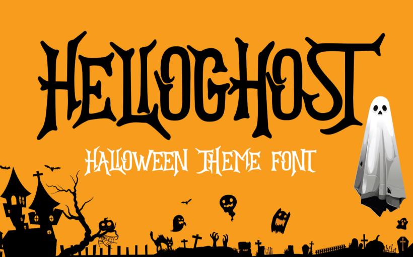Typographie gratuite Halloween Ghost pour Halloween