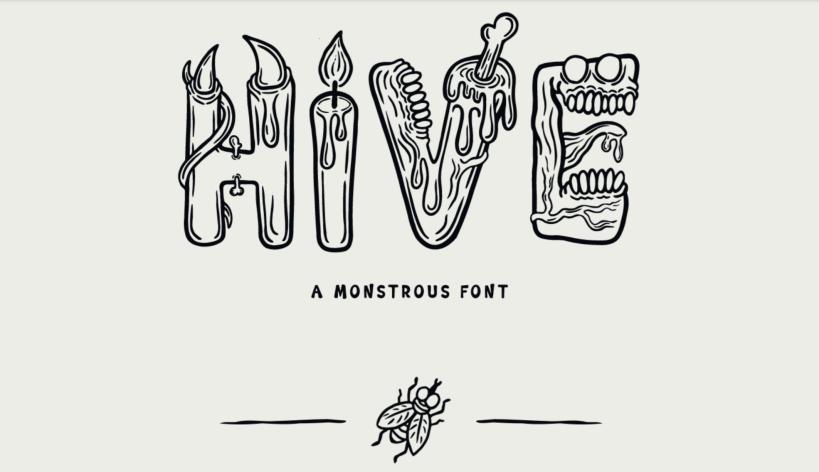 Typographie gratuite Hive pour Halloween