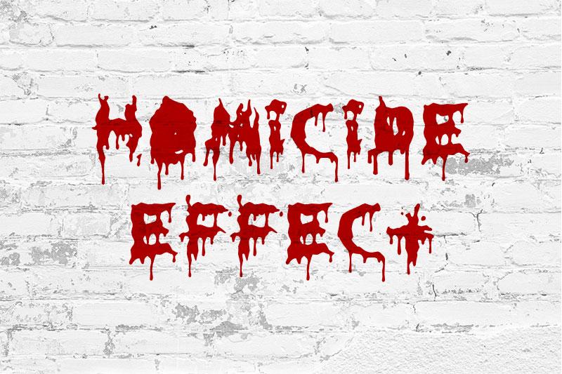 Typographie gratuite Homicide Effect pour Halloween